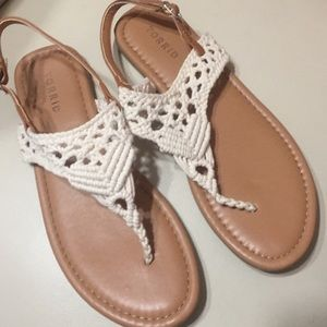 Torrid Macrame Sandal size 9